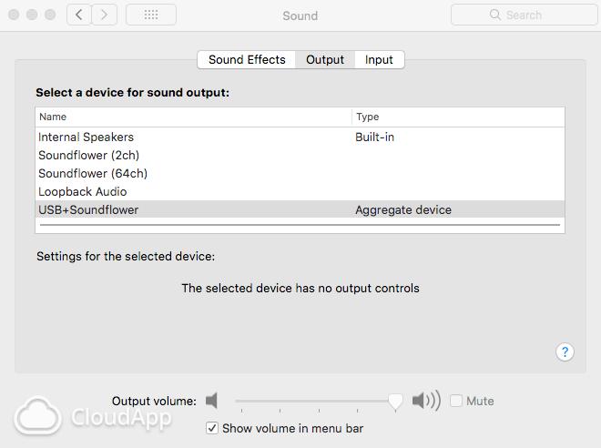 Sound Pref Output