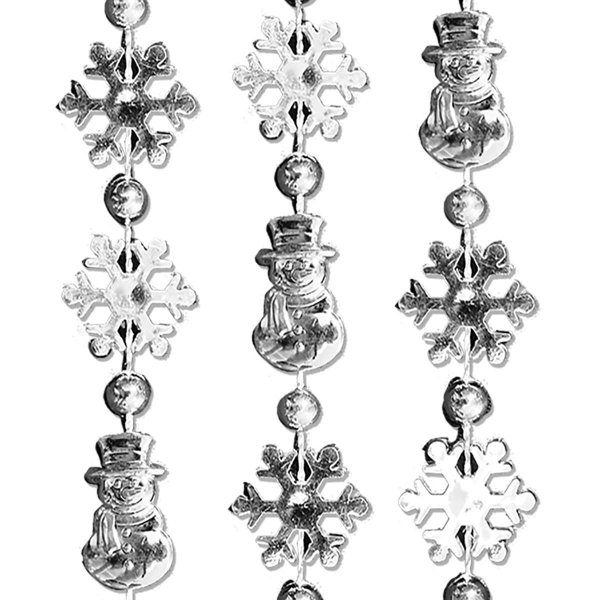 Snowmen Snowflake Bead Necklace Pack Of 12 Magic Matt S