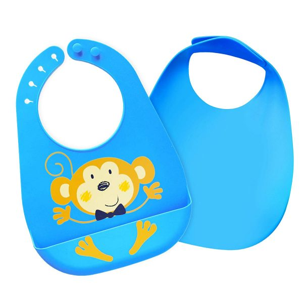 Healthy Happy Parents Silicone Bibs 2 pack