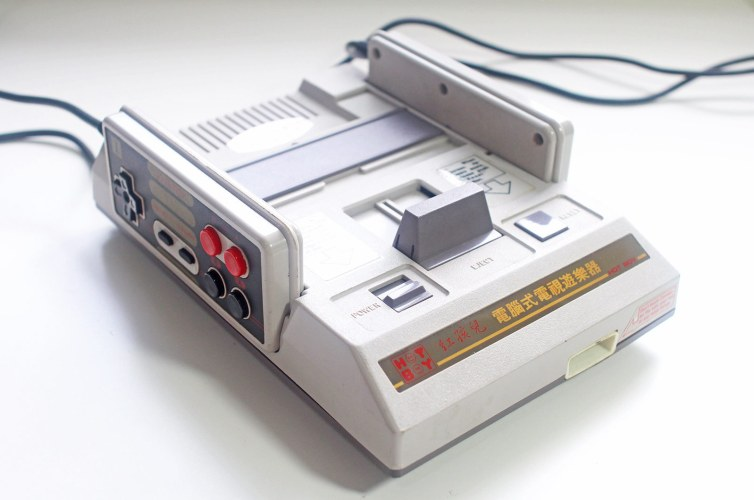Grand Arrow Electronics GA-6000 Hot Boy famiclone front-side view