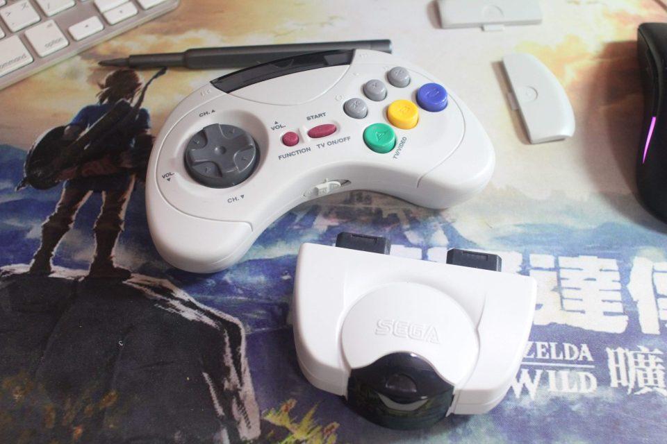 Sega Saturn HSS-0116 controller and receiver