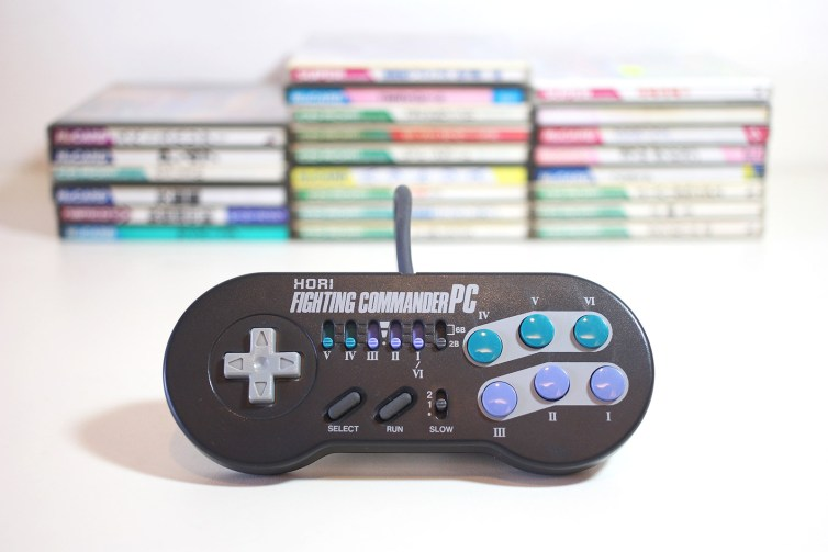 The Hori Fighting Commander PC that came with my PC Engine Duo-R purchase