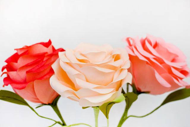 ดอกกุหลาบยักษ์ 3 ดอก