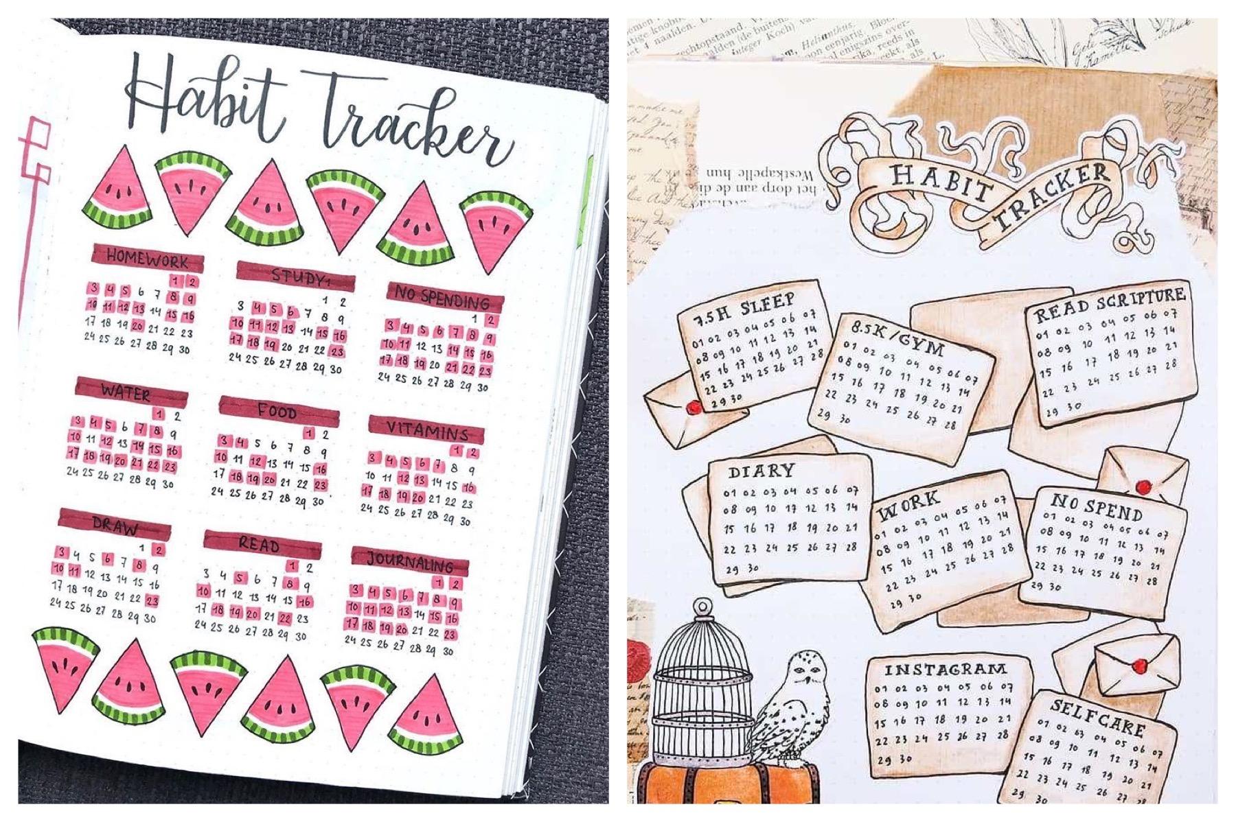 20 Amazing Habit Tracker Ideas for Your Bullet Journal   Bliss Degree