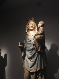 A sculpture of the Virgin Mary & Baby Jesus