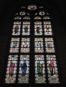 Beautiful stained glass windows inside Rijksmuseum