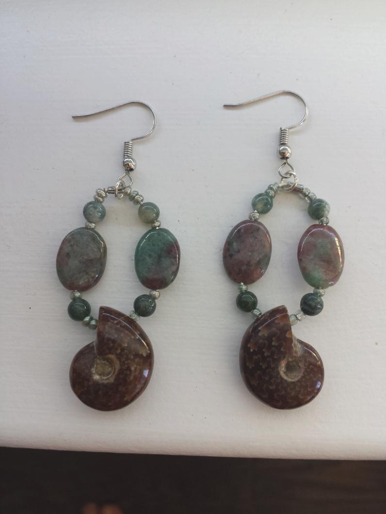 cb34497ba Ammonite Jasper Earrings - Blissful Expression