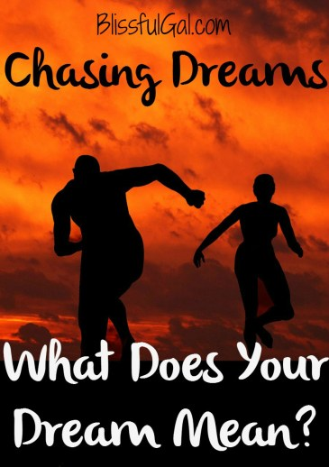 What are the meanings of your chasing dreams?