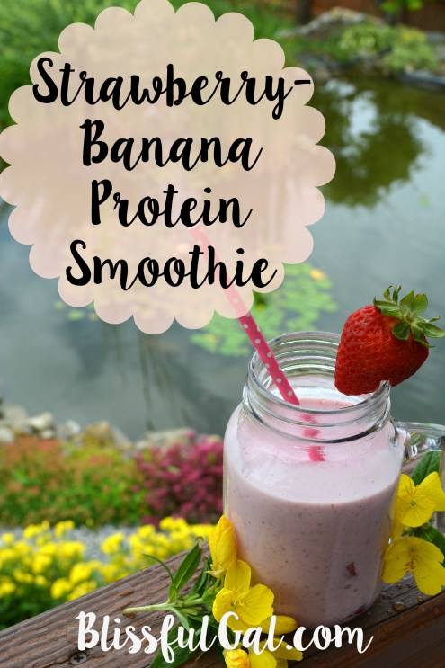 Strawberry banana protein smoothies are so yummy and a great way to get  nutrients!