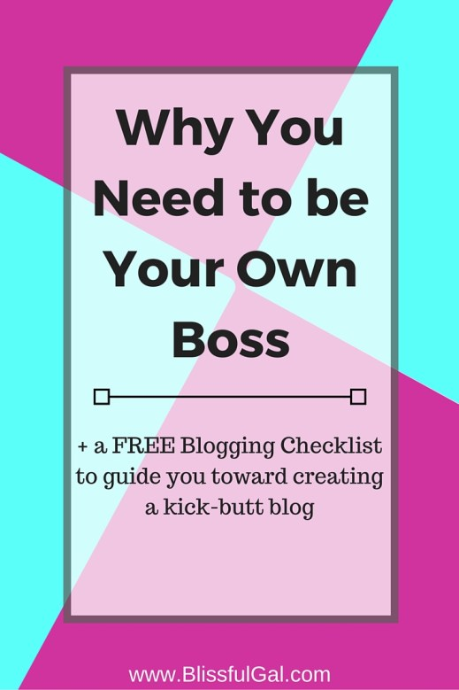 Being your own boss can be extremely intimidating...but why let your nerves hold you back?! Being your own boss have so many benefits that way outweigh the cons.  Taking the leap of faith to start a career you love with be well worth it in the end
