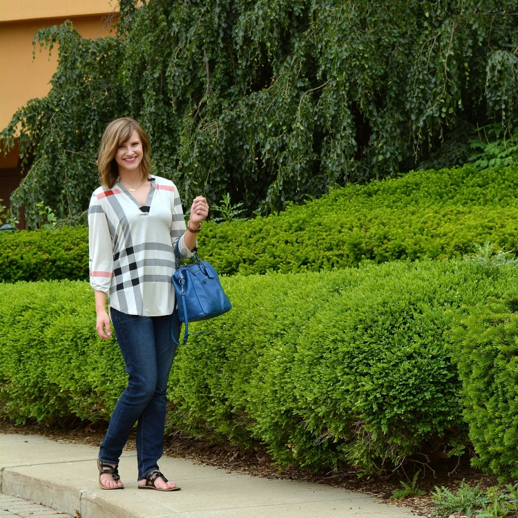 Fashion From Work to Weekend- Owning clothing items that easily transition from work life to weekend plans is essential for anyone on a budget. When you are in a business casual environment, planning outfits is a lot easier because those items are easier to pair with weekend attire. Check out the ways I wear this plaid blouse!