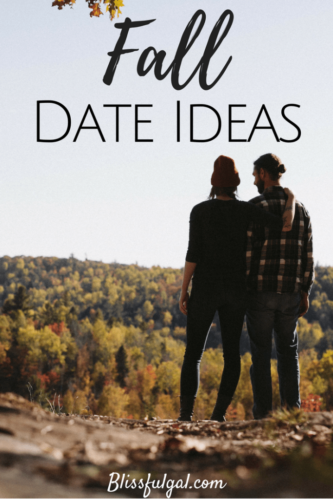Fall Date Ideas- With the changing colors of the leaves, bonfires, and pumpkin spiced lattes how could you not want to soak up every second and plan a date night?! Sometimes it can be hard to come up with ideas, but with the season in mind I created a list to make planning a fall date night easier!