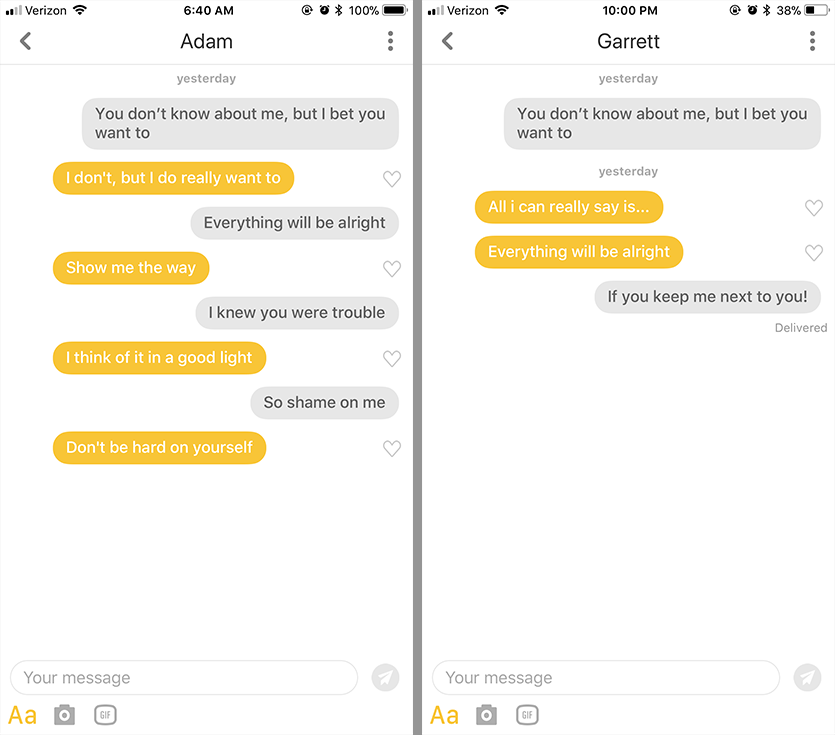 Good lines for bumble dating