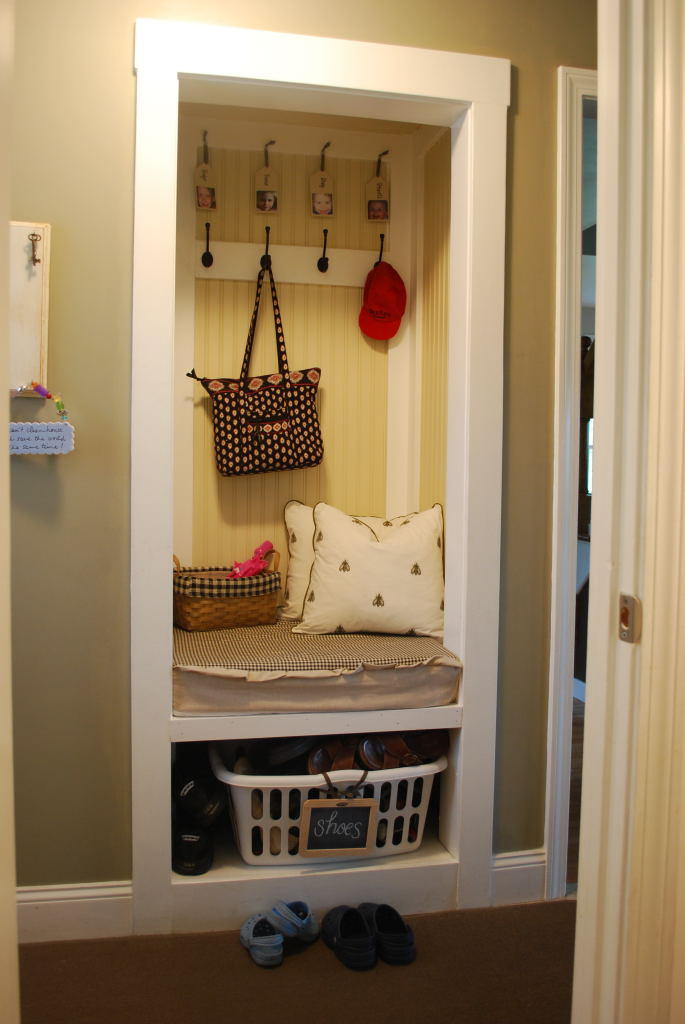 No Mud RoomNo Problem Turn A Closet Into A Mini Mud Room