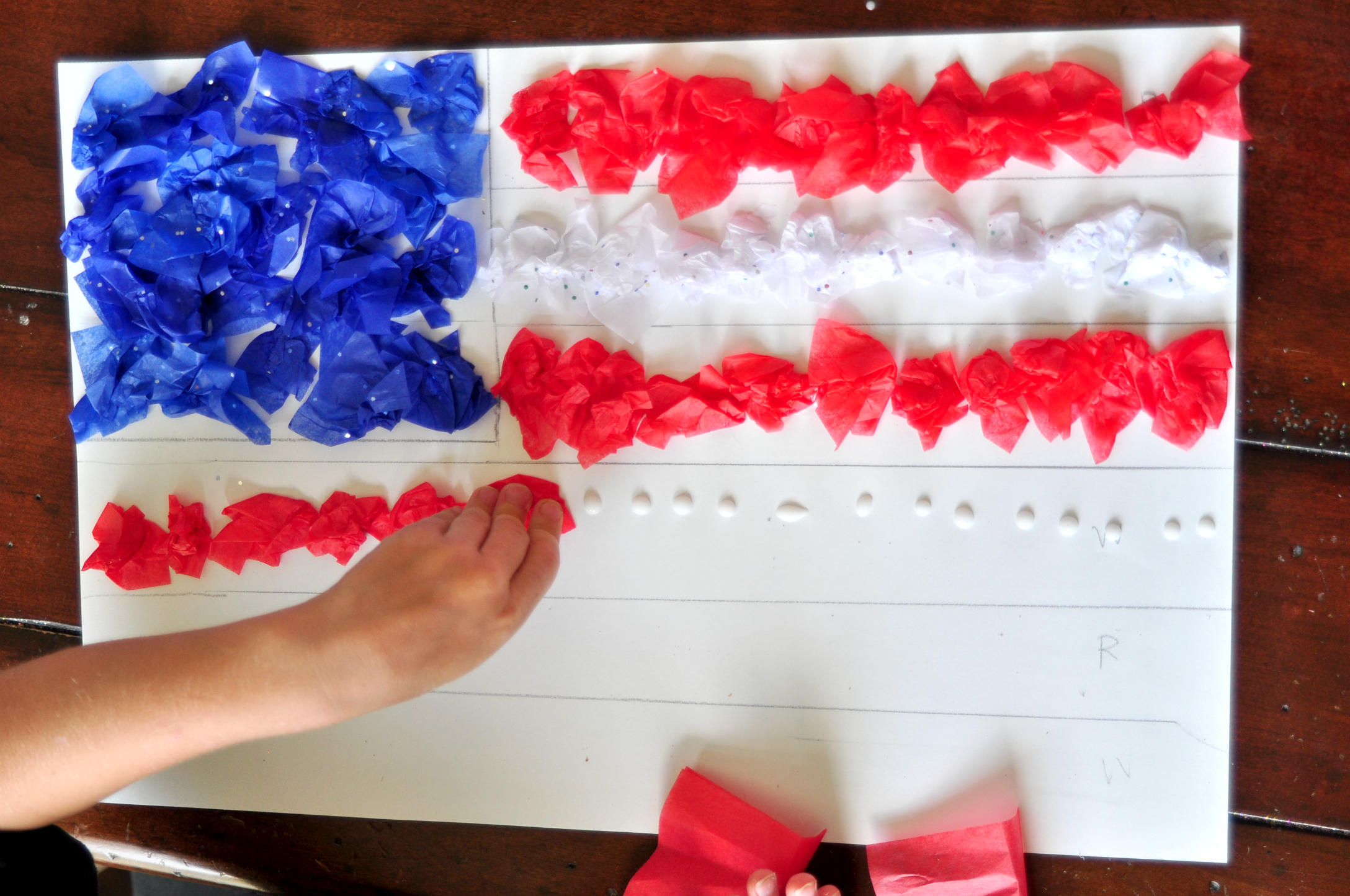 4th Of July Tissue Paper Craft For Kids
