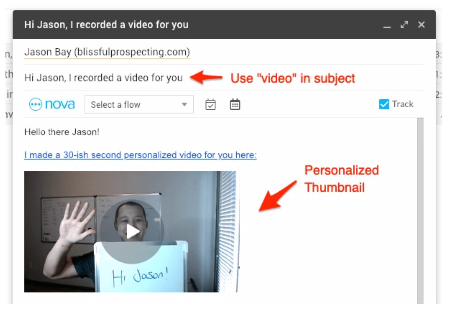 Video Prospecting Email - Blissful Prospecting