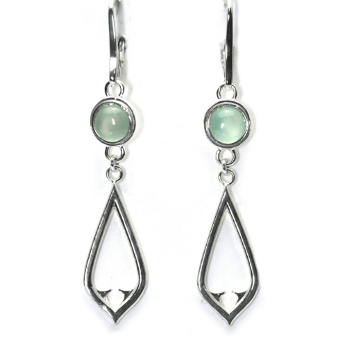 Chalcedony Architectural Dangle earrings