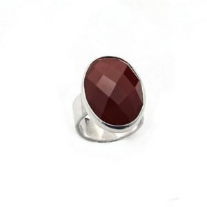 Artisan Ring | Rosecut Carnelian Hammered Ring