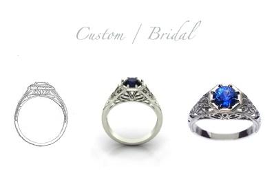 Custom Bridal Ring Slide | Bliss Jewellery