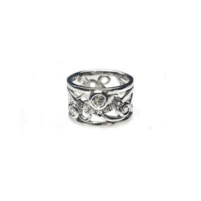 Custom Vine Ring reusing customer gold and diamonds