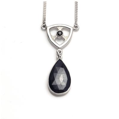 Trillion Sapphire Pendant
