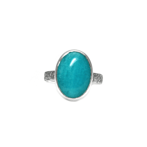 Turquoise Green Amazonite Ring