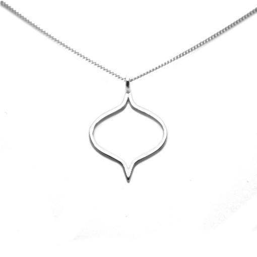 Sterling Silver Saxon Silhouette Pendant