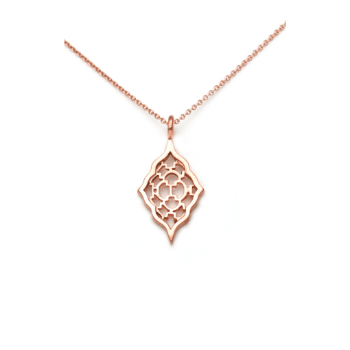 Rose Gold Moroccan Pendant