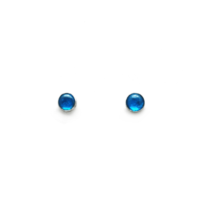 Neon Blue Apatite Stud Earrings