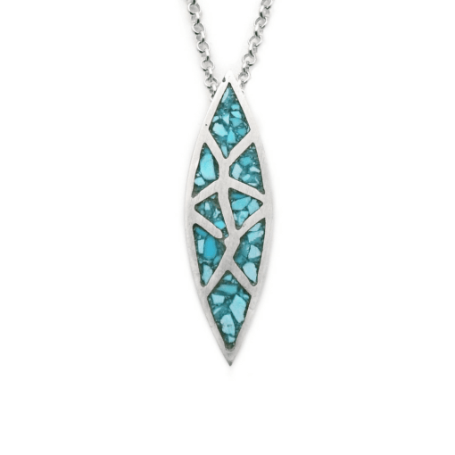 Crushed Turquoise Inlay Pendant