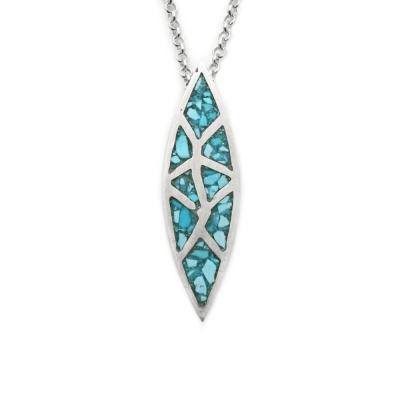 Crushed Turquoise Inlay Pendant