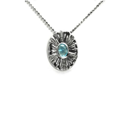 Granulated Blue Topaz pendant
