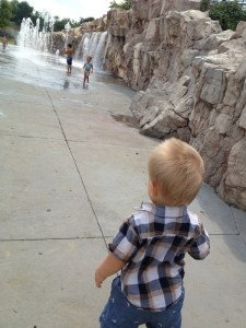 """Our first visit to the """"bunny park"""" splash pad!"""