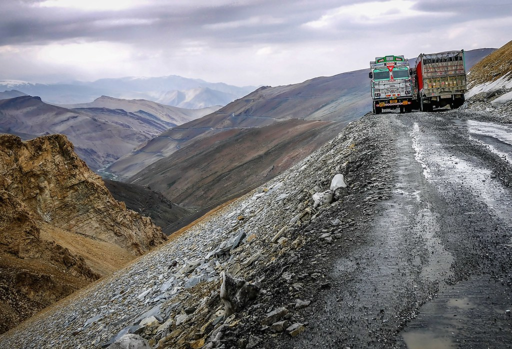 Leh-Manali Highway in India
