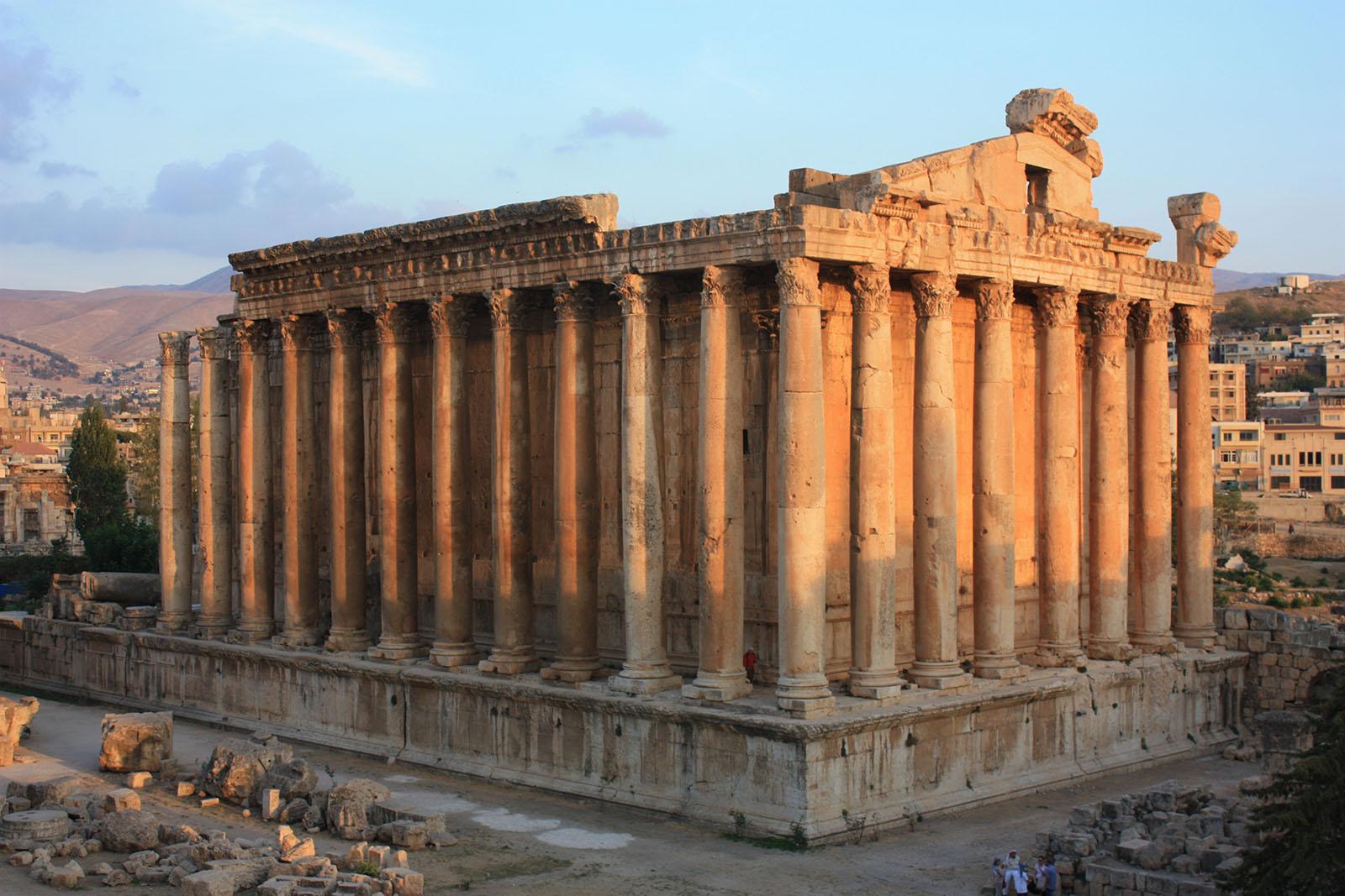Temple of Bacchus in Baalbek, Lebanon