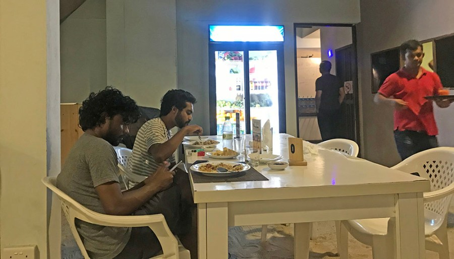 Dining with the locals in Maafushi, Maldives