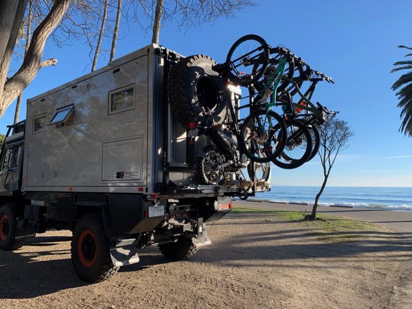 Bike rack at the beach