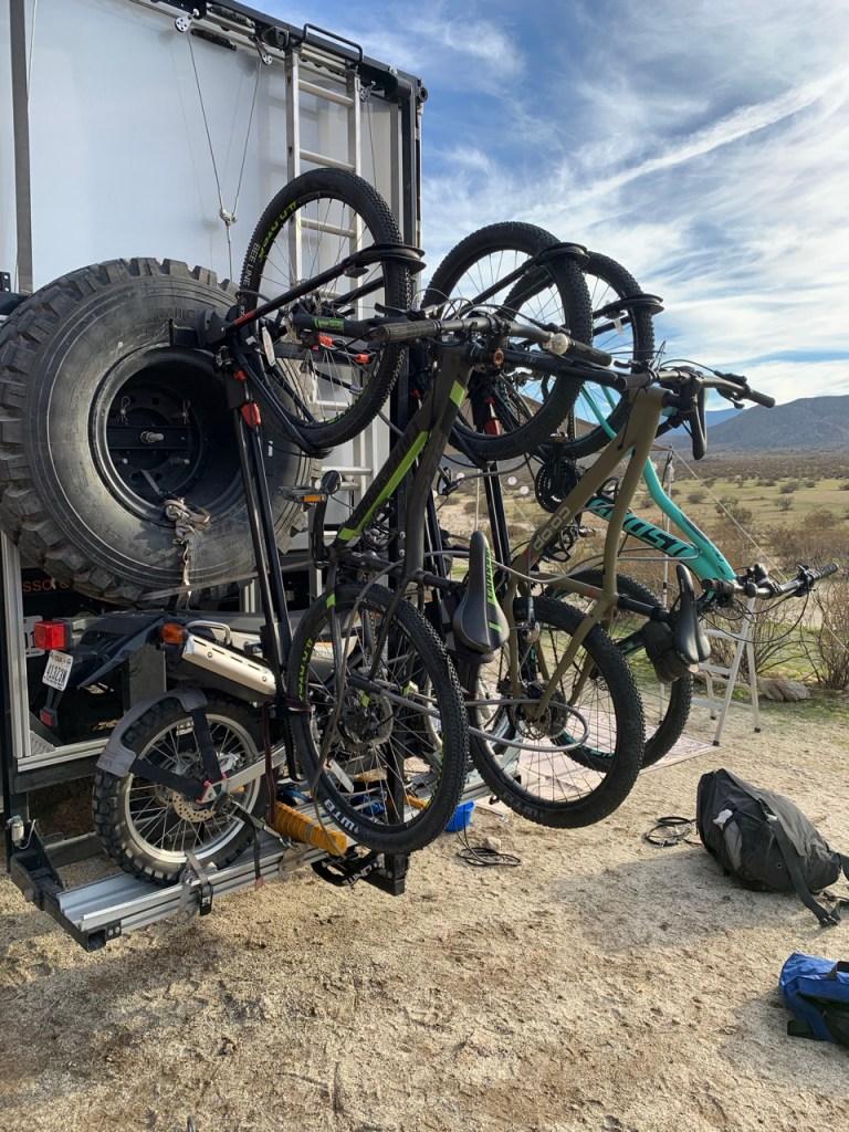 Bikes mounted