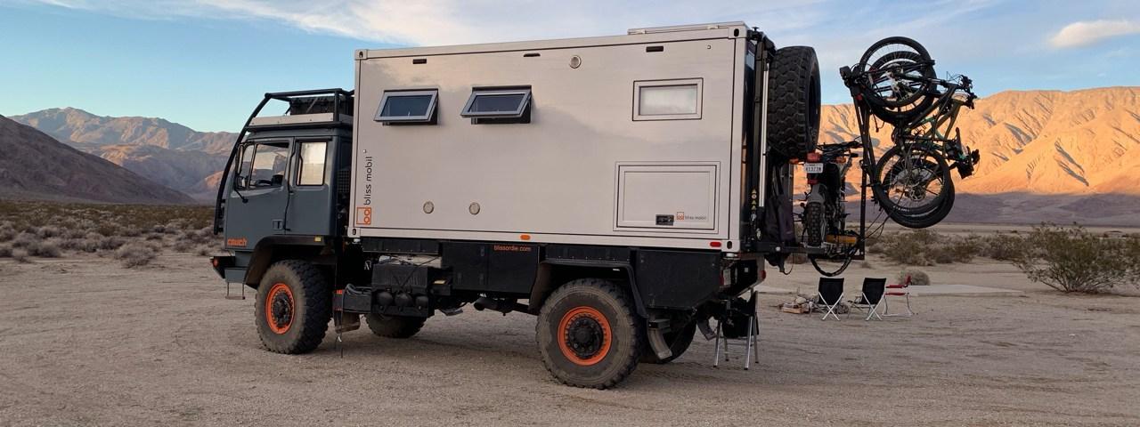 LMTV Bliss Mobil in the desert