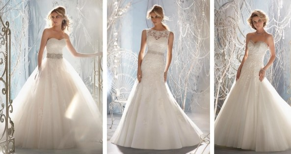 00f921c6a ... of the Bride outfits from top designers, including Mori Lee, Ronald  Joyce, Alfred Angelo and Gino Cerruti on the catwalk at Carden Park's wedding  fair, ...