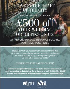 Aloft Wedding Offer Leaflet