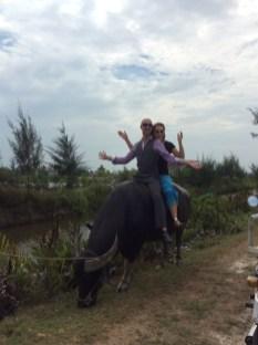Riding Sam The Water Buffalo