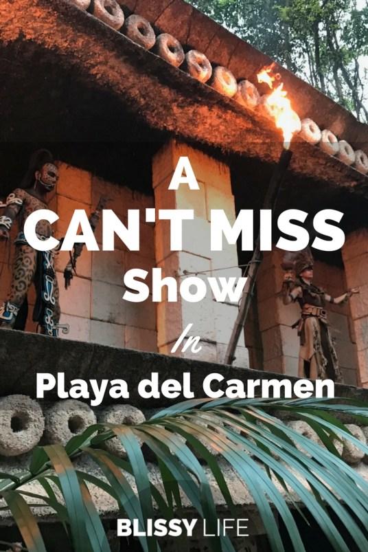 A CAN'T MISS Show In Playa del Carmen