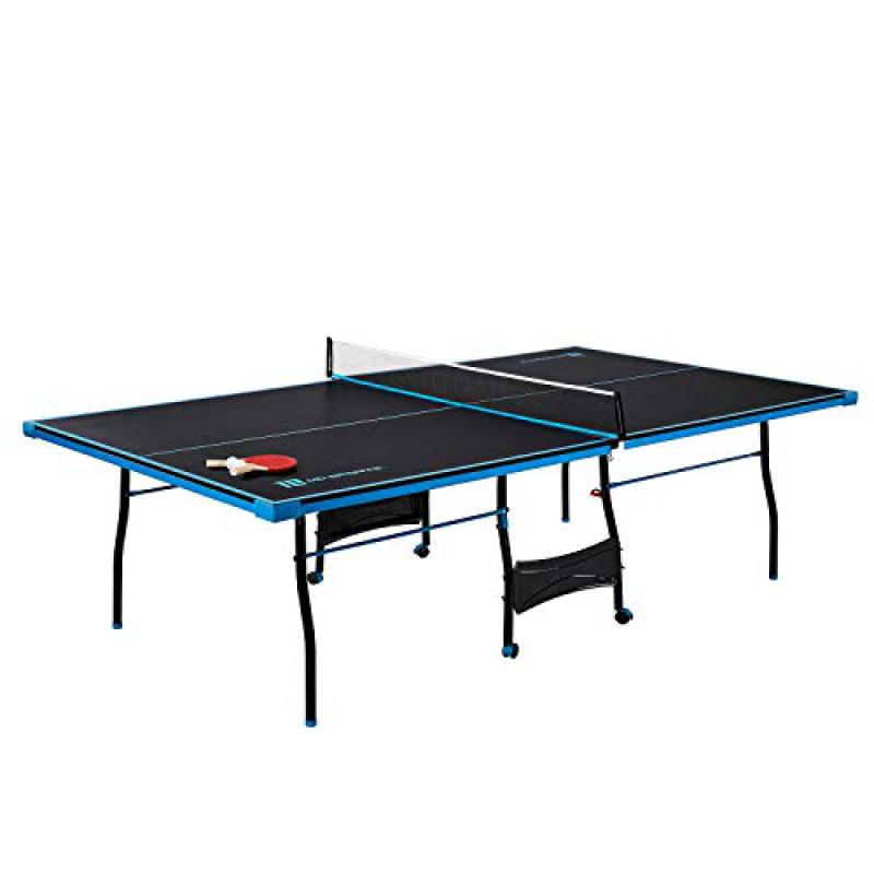 md sports table tennis set regulation ping pong table with net paddles and balls 8 pieces black light blue