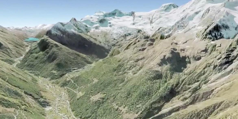3D Visualisierung Helikopterfluege für Swiss Olympics by Werbeagentur Bern - Blitz & Donner