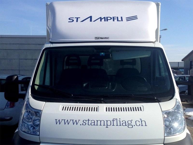 Fahrzeugbeschriftung für Stampfli Reinigungen-3202