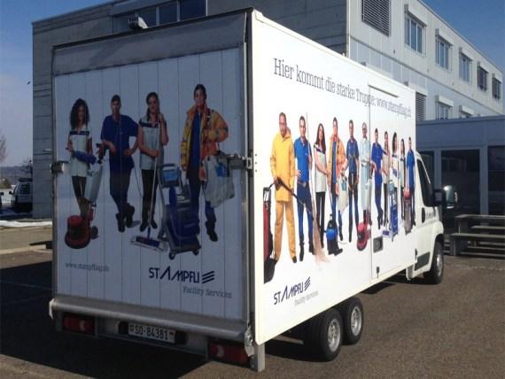 Fahrzeugbeschriftung für Stampfli Reinigungen-3203