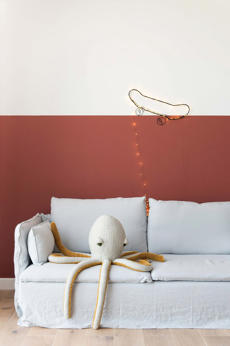 Live Loud Girl Natelee Cocks Sofa and skateboard lighting and soft octopus toy