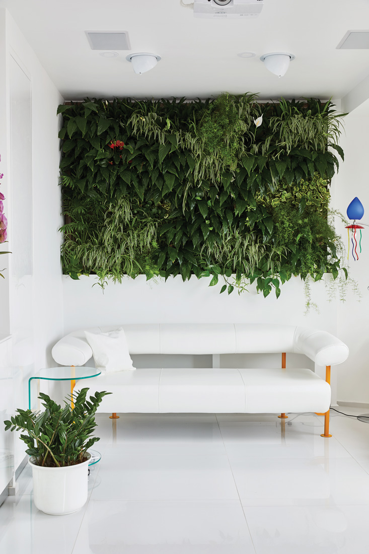 Margeza Design Studio, apartment in Budapest (Hungary) with plants on the wall