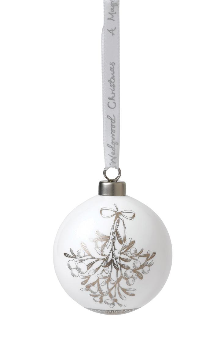 Wedgwood Christmas Mistletoe Bauble